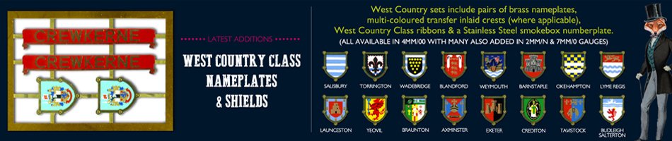 West Country Class Plates