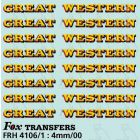 GW Locomotive Lettering yellow/red
