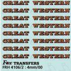 GW Locomotive Lettering gold/red