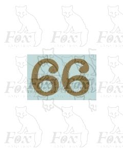(11.25mm high) Gold - 1 pair number 6