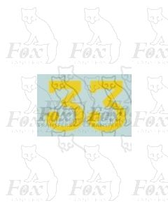 (13.5mm high) Yellow - 1 pair number 3