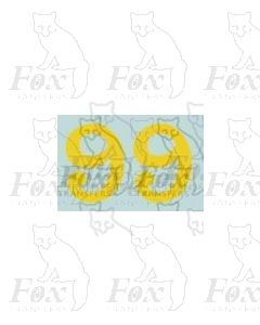 (11.25mm high) Yellow - 1 pair number 9