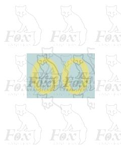 (11.25mm high) Off white (straw) - 1 pair number 0
