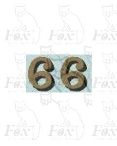 (14.75mm high) Gold/black shadow - 1 pair number 6