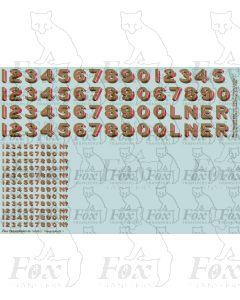 LNER Later Lettering/Numbering for black Locos