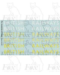 Original LNER style British Railways Lettering (8 inch)
