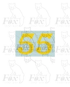 (13.5mm high) Yellow - 1 pair number 5