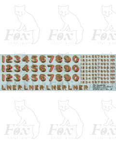 LNER Loco Earlier Lettering/Numbering