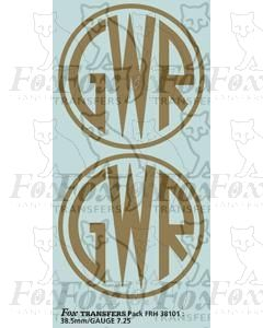 GWR Shirtbutton Loco Motifs