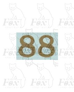 (13.5mm high) Gold - 1 pair number 8
