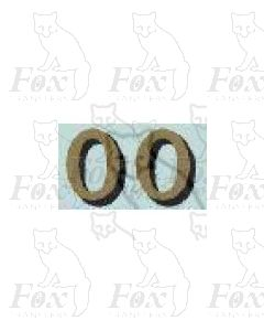 (14.75mm high) Gold/black shadow - 1 pair number 0