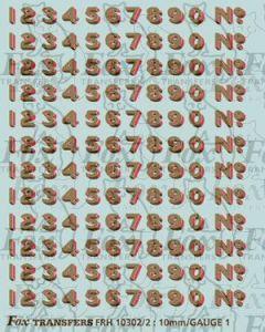 LNER Bufferbeam Lettering/Numbering for black Locos