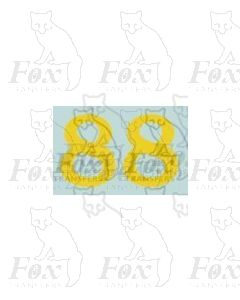 (16.5mm high) Yellow - 1 pair number 8