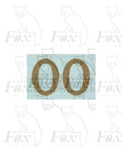 (13.5mm high) Gold - 1 pair number 0