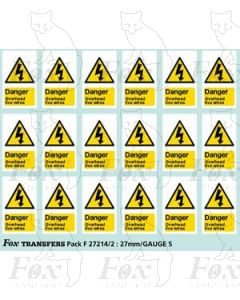 Overhead Live Wire Warning Flashes (1998 onwards)