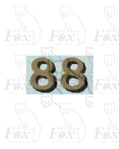 (14.75mm high) Gold/black shadow - 1 pair number 8