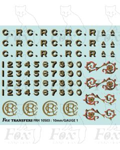 CR Caledonian Lettering & Numbering and scrolls
