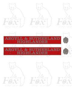 55021 ARGYLL & SUTHERLAND HIGHLANDER (with crests)