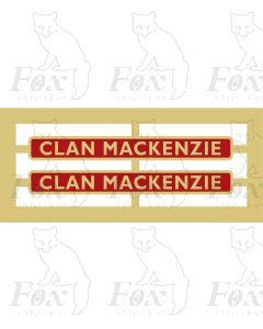 72006  CLAN MACKENZIE