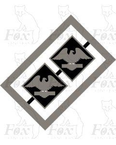 MPD Plaques - Crewe International Electric, RFD eagle
