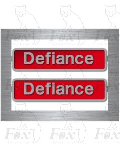 50049 Defiance - with pair of crests