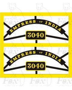 3040 EMPRESS OF INDIA