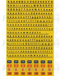 Black Alphabets Signage & PTE Totem Signs