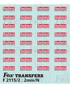 Redland Aggregates PGA Hopper logos