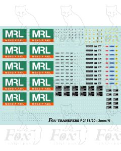 MRL Mendip Rail JNA Bogie Hopper complete livery elements