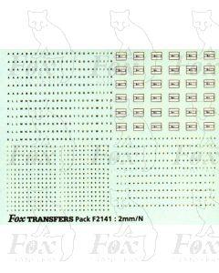 Freight vehicle Data Panels (black/white)