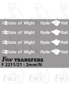Isle of Wight Ryde Rail Brandings