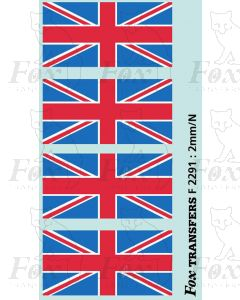 Class 47 Silver Jubilee Union Flags, 2 pairs