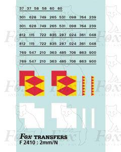 Rf Speedlink Distribution (larger size) Symbols/TOPS numbering  (Classes 37/58/60)