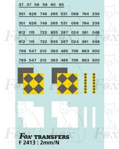 Rf Coal/Trainload Coal (larger size faded) Symbols/TOPS numbering  (Classes 37/58/60)