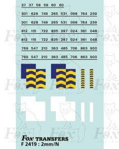 Rf Petroleum/Trainload Petroleum (larger size faded) Symbols/TOPS numbering  (Classes 37/58/60)