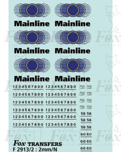 Mainline Freight Logos/Numbering/Data Panels Class 58 & 60 locos