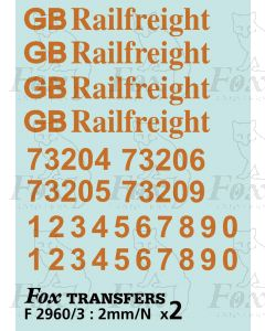 GB Railfreight Livery Elements for Class 73 Electro-Diesels