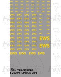 EWS Freight Vehicle EWS Lettering (yellow)