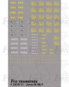 EWS  TURBOT Wagons Detailing