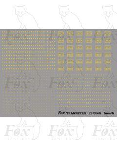 EWS Freight Vehicle Data Panels (yellow Gill Bold)