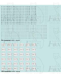Freight vehicle Stencilled Data Panels (black/white)