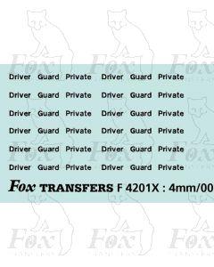 InterCity - Driver/Guard/Private