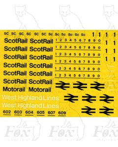 InterCity ScotRail Livery Lettering/Numbering