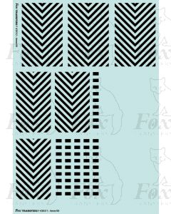 Locomotive Shunter Chevrons (wasp stripes)