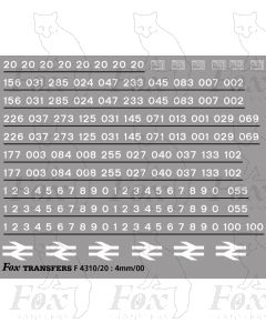 Class 20 TOPS Numbersets & Detailing