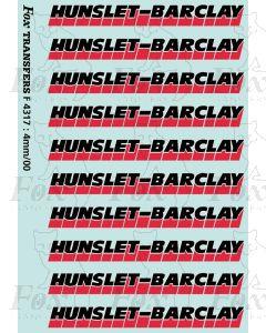 Hunslet Barclay Class 20 Loco Logos
