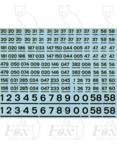 Standard Locomotive TOPS Numbering (black)