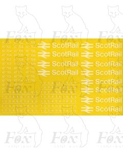 ScotRail Locomotive Logos/Numbering Class 47 (47701-47717). Suitable for DRS Compass Livery