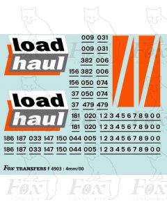 Loadhaul Class 37 & 122 Loco Livery Elements