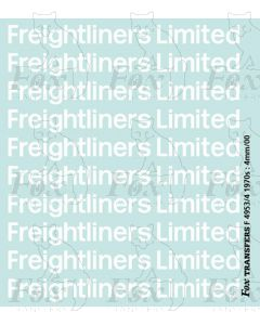 Freightliner Limited 1970s container logos